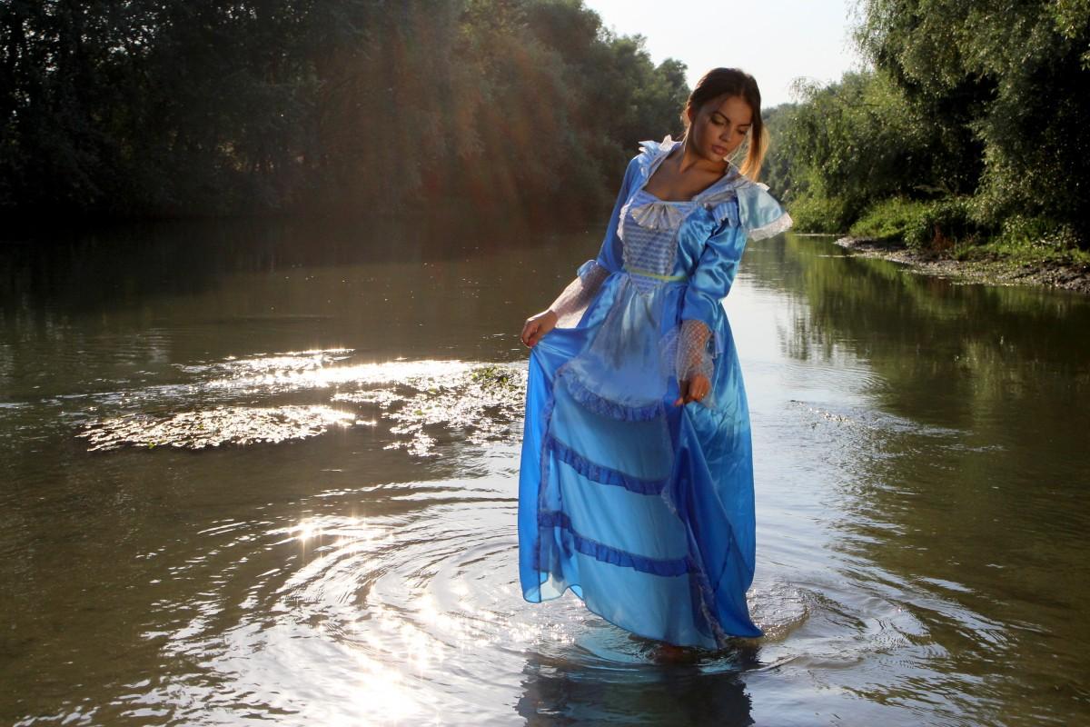 mer, eau, la nature, fille, Lac, rivière