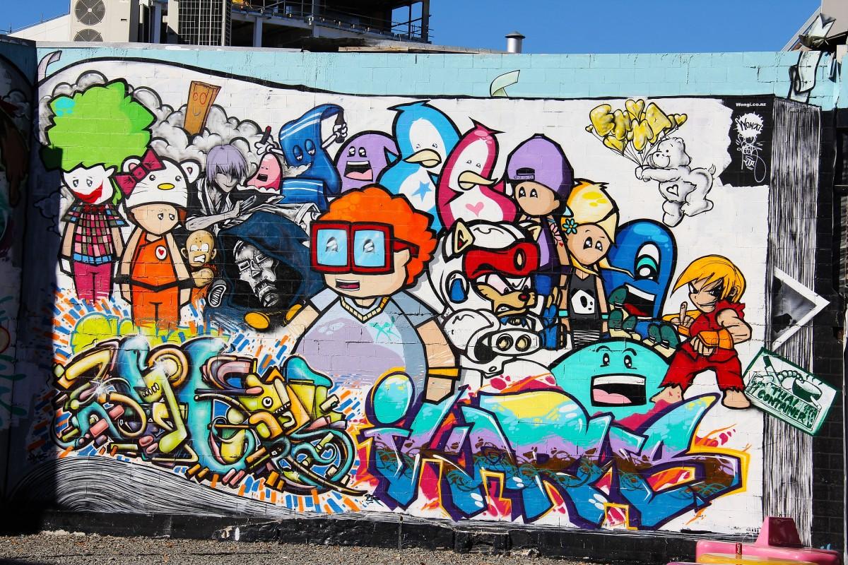 Kumpulan Gambar Grafiti Kartun Hitam Putih