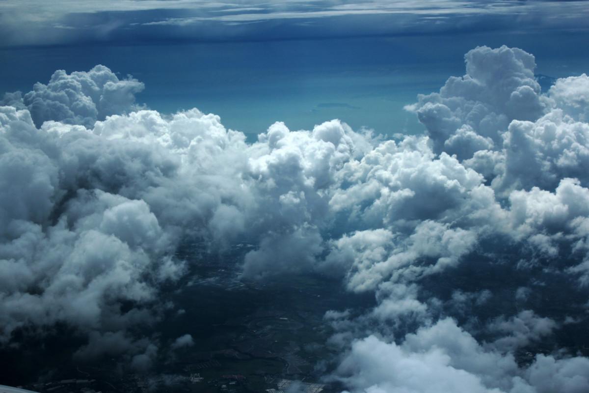 Images Gratuites : la nature, nuage, atmosphère, Météo, cumulus, ciel bleu, des nuages, Contexte ...