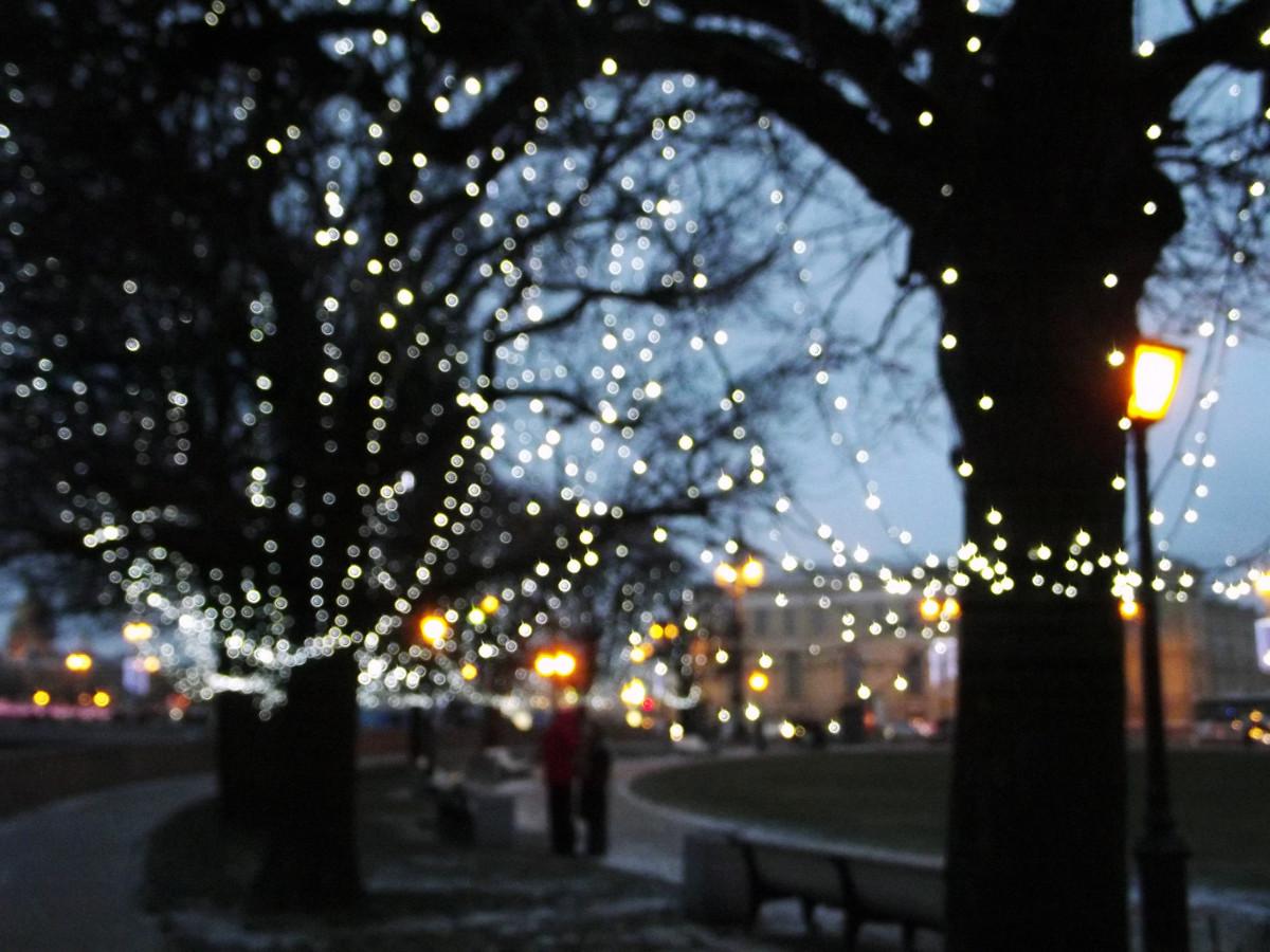 Фонари для улицы на новый год