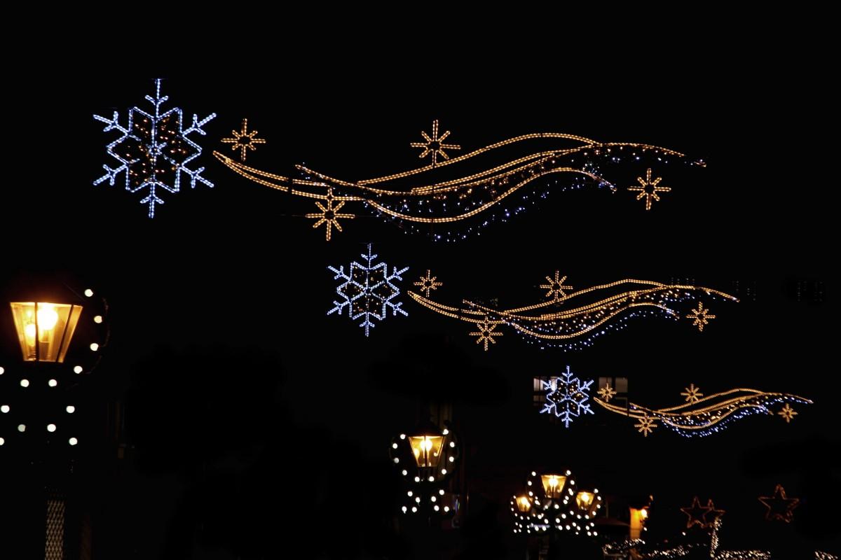 images gratuites branche nuit toile clairage arbre de no l illumin av nement. Black Bedroom Furniture Sets. Home Design Ideas